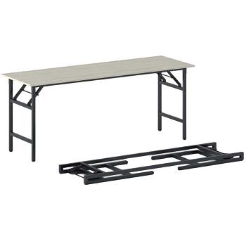 Konferenční stůl 1700x 500x 750, dub přírodní, podnož černá, FAST READY