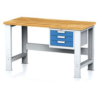 Dílenský stůl MECHANIC 1500x700, BZ3, SP