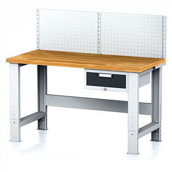 Dílenský stůl MECHANIC 1500x700, AZ1, SP s nástavbou