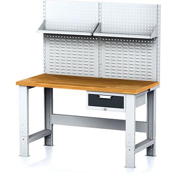 Dílenský stůl MECHANIC 1500x700, AZ1, SP s nástavbou a policí