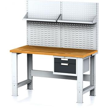Dílenský stůl MECHANIC 1500x700, AZ2, SP s nástavbou a policí