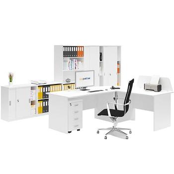 Pracovní místo sestava 02, bílá, MIRELLI A+