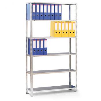 Základní regál šroubovaný CMP,  84 šanonů,  80 kg/police x8, 2500x1000x300, šedá