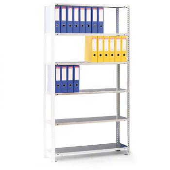 Přídavný regál šroubovaný CMP,  63 šanonů,  80 kg/police x8, 2500x 750x300, šedá