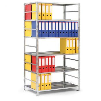 Přídavný regál šroubovaný CMP, 126 šanonů, 160 kg/police x8, 2500x 750x600, šedá