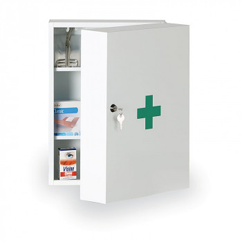 Lékárnička kovová nástěnná 45x32x19 cm