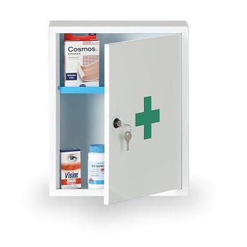 Lékárnička kovová nástěnná 37x30x14 cm