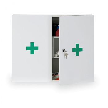 Lékárnička kovová nástěnná 50x60x12,5 cm s náplní DIN 13169