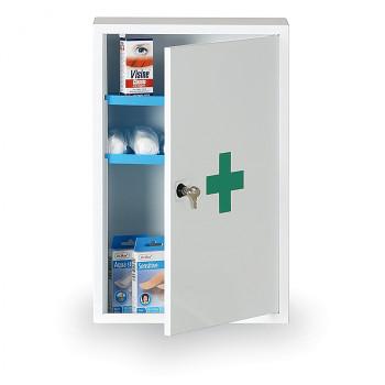 Lékárnička kovová nástěnná 46x30x14 cm s náplní DIN 13169