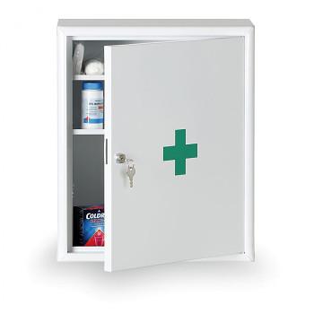 Lékárnička kovová nástěnná 48,3x40,2x20,2 cm s náplní DIN 13157