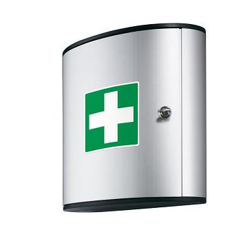 Hliníková nástěnná lékárnička s náplní DIN 13169
