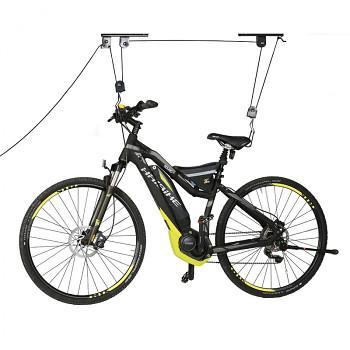 Stropní věšák na kolo, kladkový, nosnost 20 kg