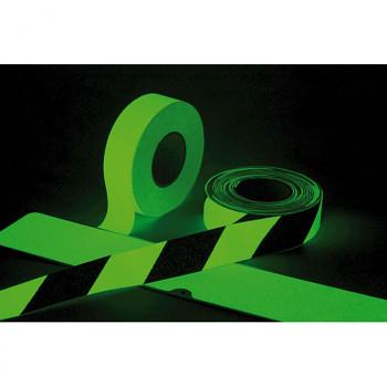 Fotoluminiscenční protiskluzová páska černo-bílá