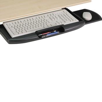Výsuvný držák klávesnice, černý